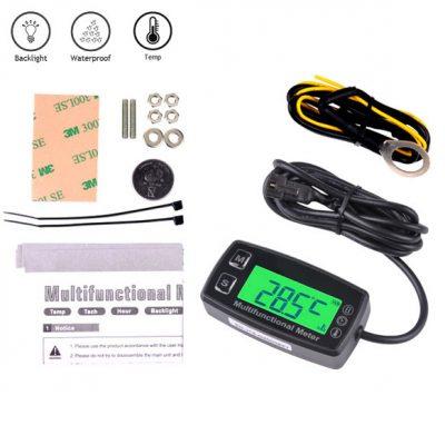 Tacometro Digital RPM Maxima Cuenta Horas Sensor de Temperatura Service