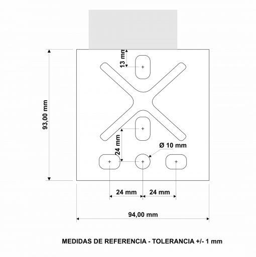 Malacate Torque Marine 600 lbs dimensiones