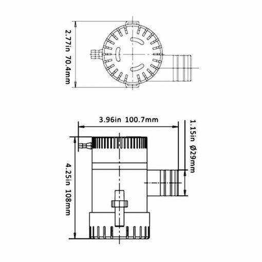 Bomba De Achique Eléctrica 1100gph 12v Torque Marine