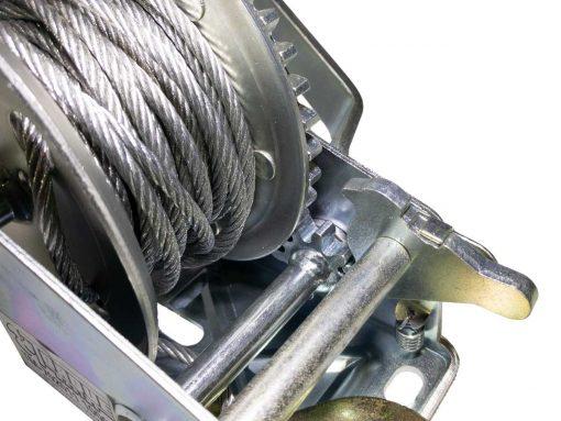 Malacate Manual De 1000 Lbs 453 kg Con Cable de Acero Y Gancho